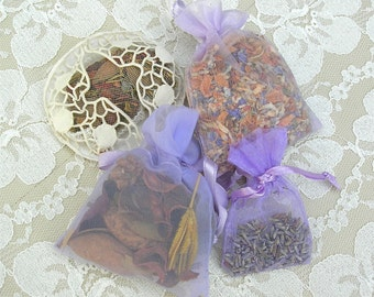 4 Small Scented Lavender Sachets