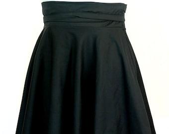 "Size 26 -38 Plus Size High Waist Wrap Skirt  28"" L"