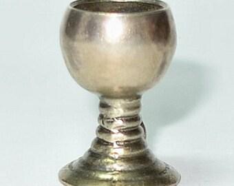 Vintage 800 Silver 3-D German Goblet Charm