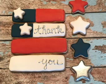Thank You Flag Cookies