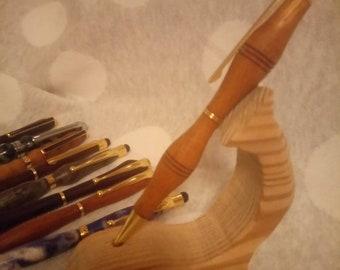 Iroko pen//hand turned pen