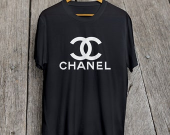 Coco Chanel Shirt Chanel T Shirt Chanel Inspired Short-Sleeve Unisex Black T-Shirt  S - XXL