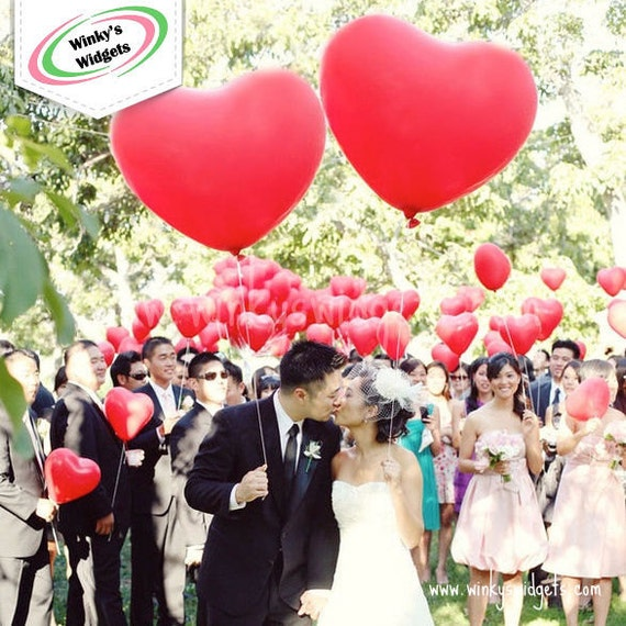 Giant Heart Balloon Large 36 Inch Wedding Photo Prop Big Engagement