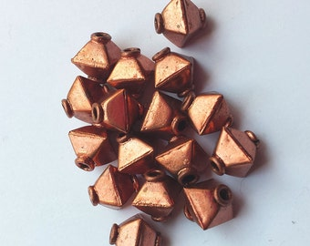 Solid Copper Cube Beads 8x8mm Bali Style Accents 6pc or 18pc