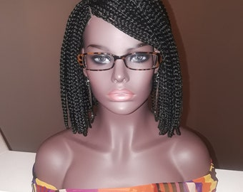 Braided wig, Box braids, Bob, Color #1