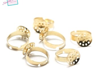 10 blank screen, gold rings