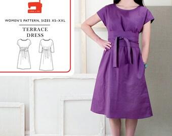 Liesl & Co PATTERN - Terrace Dress - Sizes XS to XXL
