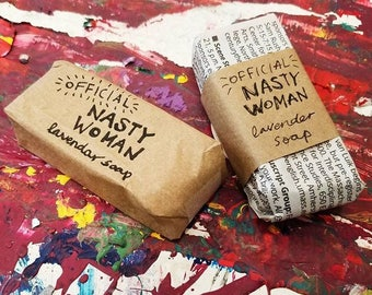NASTY WOMAN sparkling bar soap! (2 for 5 USD)