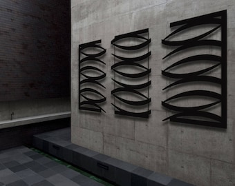 """Contemporary Metal Wall Art Sculpture Black - """"Oasis"""" by Dustin Miller"""
