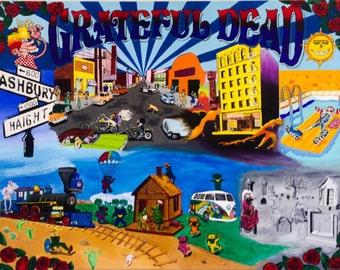 Grateful Dead, Jerry Garcia, dancing bears, Shakedown Street, Mars Hotel