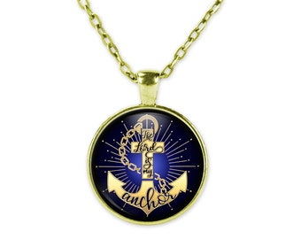 The Lord Is My Anchor Christian Pendant Necklace With Chain, Gold Plated