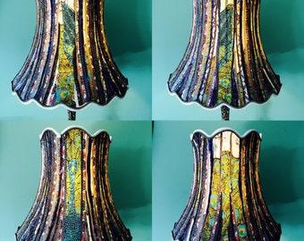 Upcycled large vintage shade