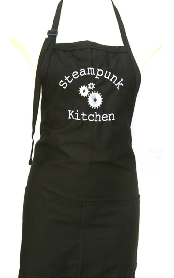 Steampunk Kitchen with gears  (Adult Apron)