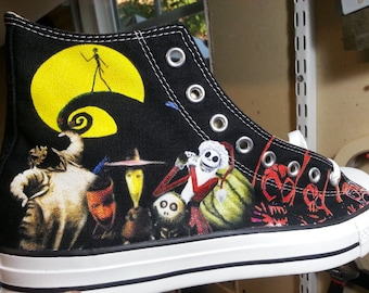 The Nightmare Before Christmas Custom Converse All Stars