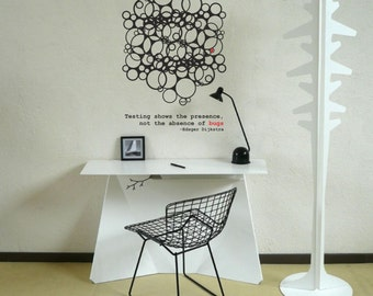 Science art - Dijkstra quote on testing and geometric art of a computer program loops bugs vinyl wall decal scientific geekery decor