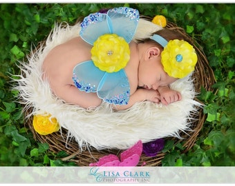 SET White Faux Fur, Wood Branch Nest, Owl Nest, Bird Nest, Newborn Nest, Newborn Photography, Photo Prop