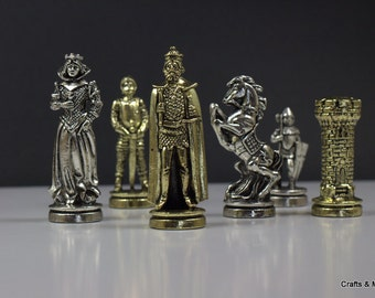 Medieval Chess Pieces 32pcs (33X33) / Board not included