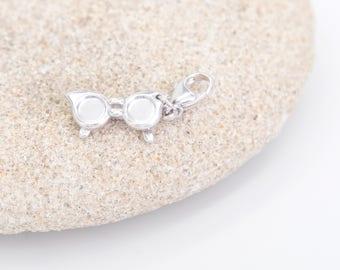 Silver Sunglasses Charm for Bracelet