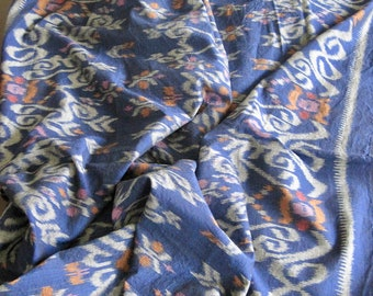 Vintage cotton folk design ikat fabric handwoven in SE Asia