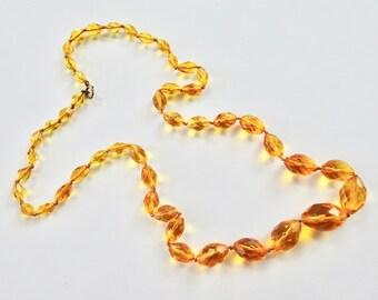 Vintage Gold Crystal Necklace
