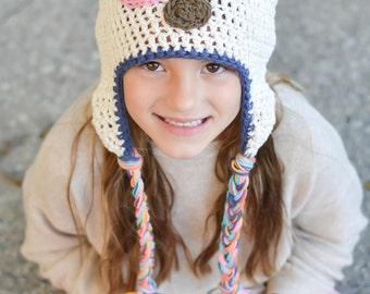 baby hat, puppy hat, crochet dog hat, girls hat, hat for girls, crochet puppy hat, baby hat, crochet baby hat, kid hat, baby winter hat