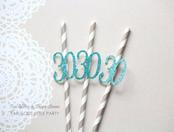 30th Birthday Decorations Party Straws Anniversary Decor 20th