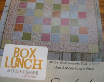 Box Lunch Quilt Pattern by Sweetwater using Moda fabrics