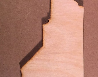 North Carolina NC - Wooden State Cutout - Shapes for Projects or Other Use