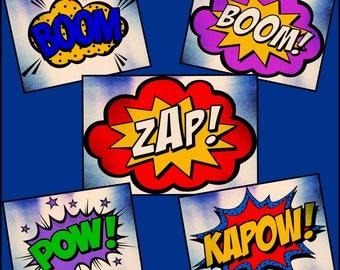 Comic book woorden - Speech Bubbles - tekst ballonnen - gelaagde Comic Book decoratie voorzien Cricut en silhouet