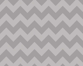 1 yard of Medium Tone on Tone Grey Chevron by Riley Blake