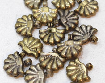 Beads Silver Hill Tribe Vintage Fluted Beads 18mm