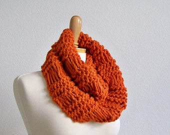 Knit Infinity Scarf Pattern, Knitting Pattern, Chunky Knit Scarf Pattern, Knit Cowl Scarf Pattern, Thick Scarf Pattern Knitted Scarf Pattern