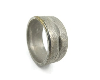 Vintage, Silver Tone Ring, Band, Size 5