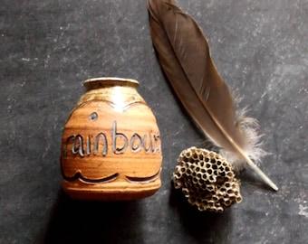 Stoneware Pottery Vase, Vintage Handmade Pottery Vase, Vintage Stoneware Vase