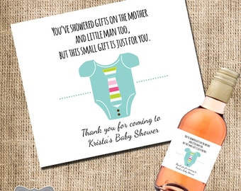 Mini Wine Label Baby Shower Favor, Gift For Hosting Baby Shower, Mini Wine  Label