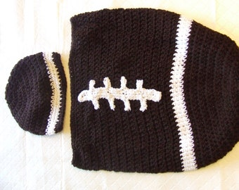 Baby Fall/Football Bunting Suit Crochet