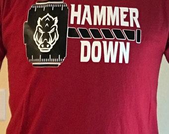 Hammer Down Arkansas Razorbacks shirt