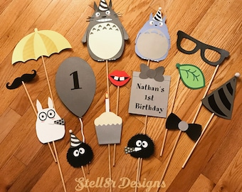 Custom PHOTO booth PROPS | Photo Props for BIRTHDAY