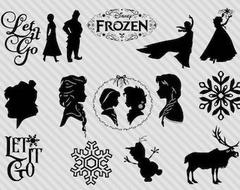 Disney's Frozen svg bundle, frozen clipart, frozen dxf, frozen svg cut files, frozen silhouette