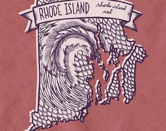 Rhode Island State Bird Print- Rhode Island Red, 8x10 inches.
