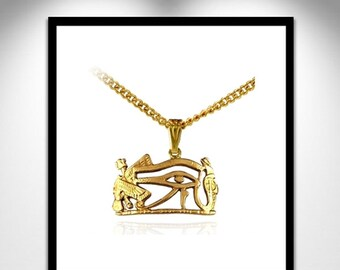 Horus Necklace Bronze _ Horus necklace Bronze gold or silver