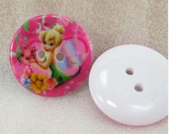 Disney Tinkerbell 5 buttons