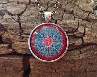 Mandala Necklace 'Imagination Takes Flight'