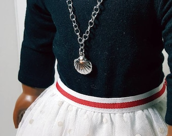 18 inch doll clothes chain link, Nautical doll necklace. AG, and Our Generation Dolls. Available in 4 different options.