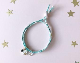 Liberty of London Charm Bracelet for Little Girls, Pug Charm, giddyupandgrow
