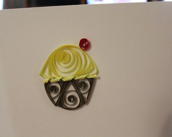 Quilled Cupcake Birthday Cards