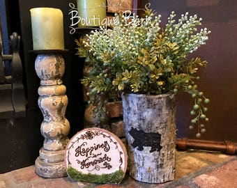 Vase/Bear Decor/Rustic Vase/Bear Silhouette/Rustic Centerpiece/Cabin Decor/Rustic Decor/Birch/Farmhouse Decor/Country Home Decor/Centerpiece