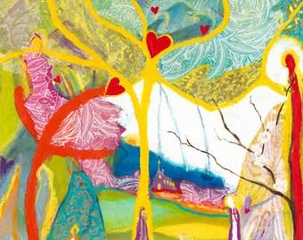 Faith Like a Mustard Seed.  Christian Art PRINT.