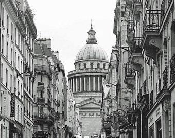 Paris Photo, Black and White, Photography Print, Paris Pantheon, Latin Quarter, Wall Art, French Home Decor, 8 x 10 Photo, 11 x 14 Print