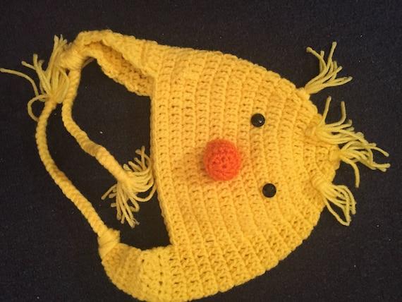 Handarbeit häkeln Daffy Duck Hut häkeln Ente Mütze mit